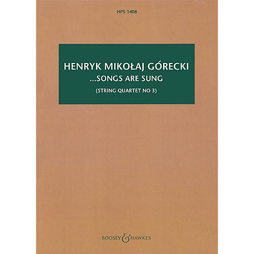 Boosey and Hawkes ...songs are sung, Op. 67 Boosey & Hawkes Scores/Books Series Softcover by Henryk Mikolaj Górecki-thumbnail