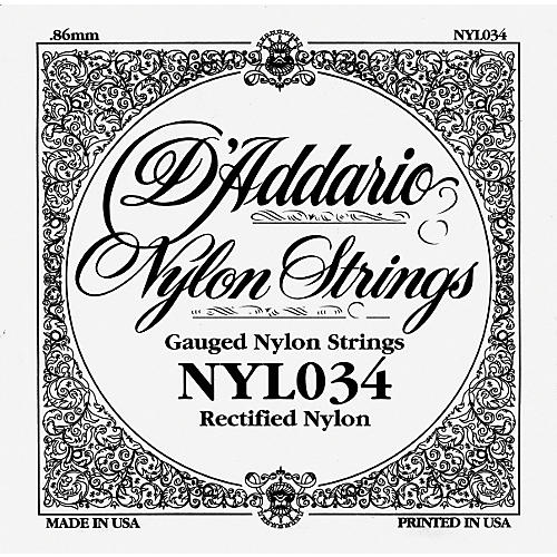 D'Addario 034 Rectified Nylon Guitar Strings