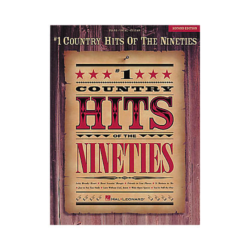 Hal Leonard #1 Country Hits of the Nineties - Second Edition Piano, Vocal, Guitar Songbook