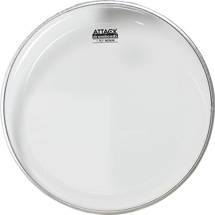 Attack 1-Ply Medium Clear Drumhead  12