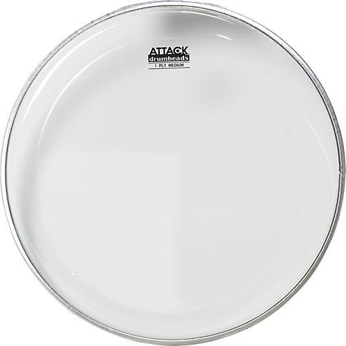 Attack 1-Ply Medium Clear Drumhead  #602 Bistro Black