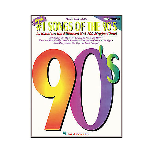 Hal Leonard #1 Songs of the 90's - 2nd Edition Piano, Vocal, Guitar Songbook-thumbnail