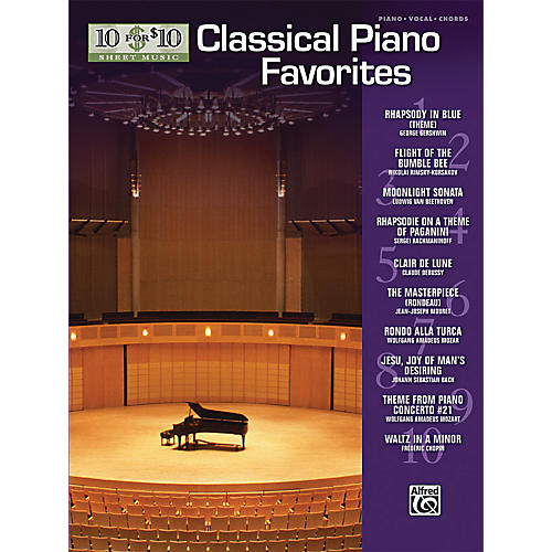 Alfred 10 For $10 Classical Piano Favorites (Piano, Vocal, and Chords Book)