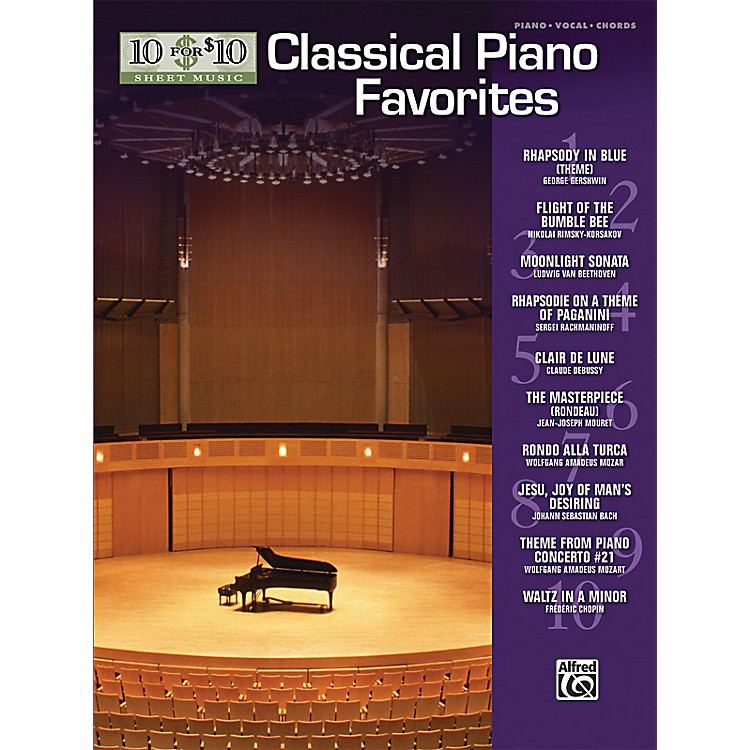 Alfred10 For $10 Classical Piano Favorites (Piano, Vocal, and Chords Book)