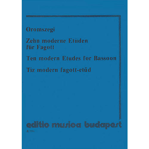 Editio Musica Budapest 10 Modern Etudes-bsn EMB Series-thumbnail
