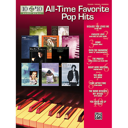 Alfred 10 for 10 Sheet Music All-Time Favorite Pop Hits Piano/Vocal/Chords