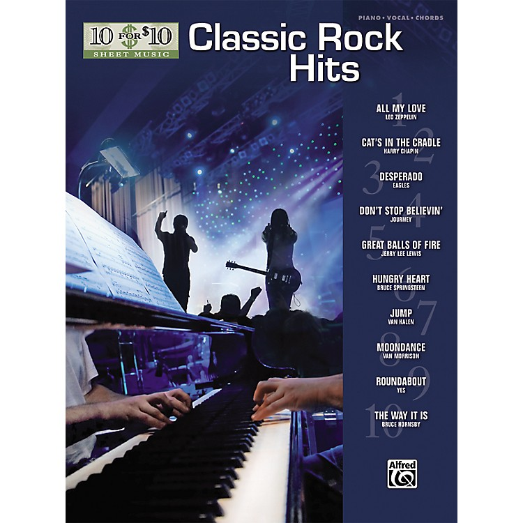 Alfred10 for 10 Sheet Music Classic Rock Piano/Vocal/Chords