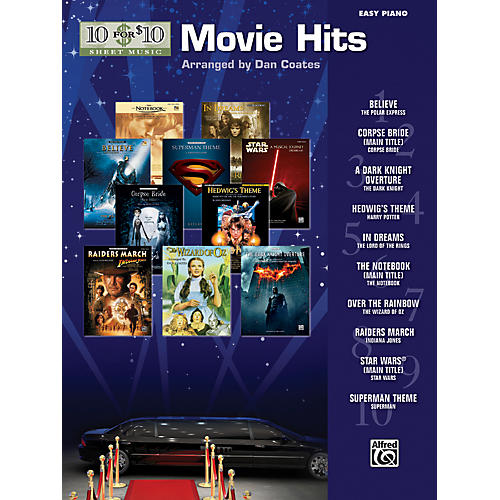 Alfred 10 for 10 Sheet Music Movie Hits Easy Piano