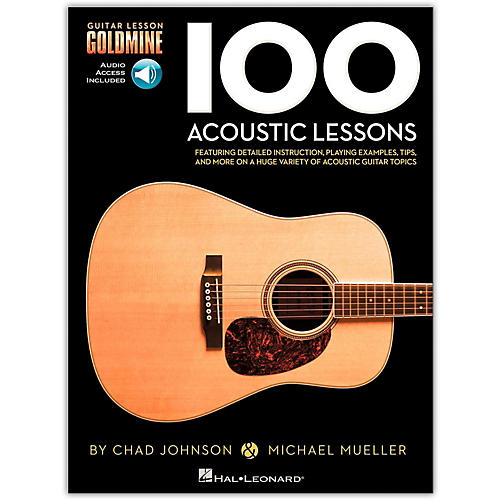 Hal Leonard 100 Acoustic Lessons - Guitar Lesson Goldmine Series (Book/Online Audio)-thumbnail