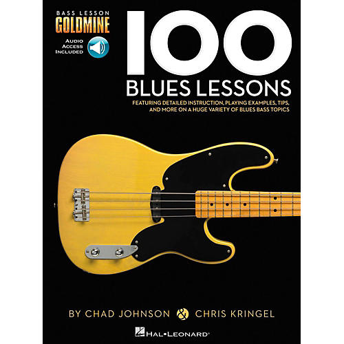 Hal Leonard 100 Blues Lessons - Bass Lesson Goldmine Series Book/Online Audio