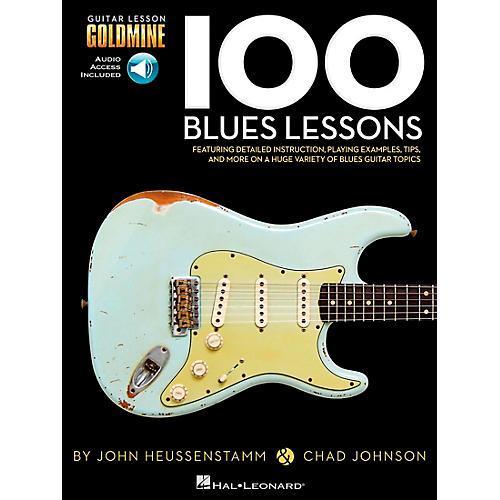 Hal Leonard 100 Blues Lessons Guitar Lesson Goldmine Series Softcover with Online Audio-thumbnail