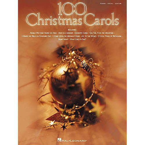 Hal Leonard 100 Christmas Carols Piano, Vocal, Guitar Songbook