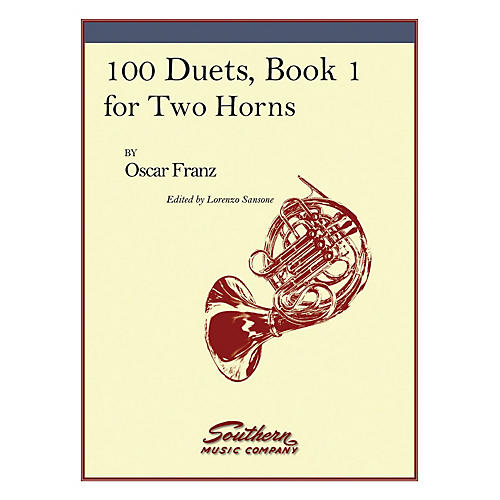 Southern 100 Duets, Book 1 (Horn Duet) Southern Music Series Arranged by Lorenzo Sansone-thumbnail