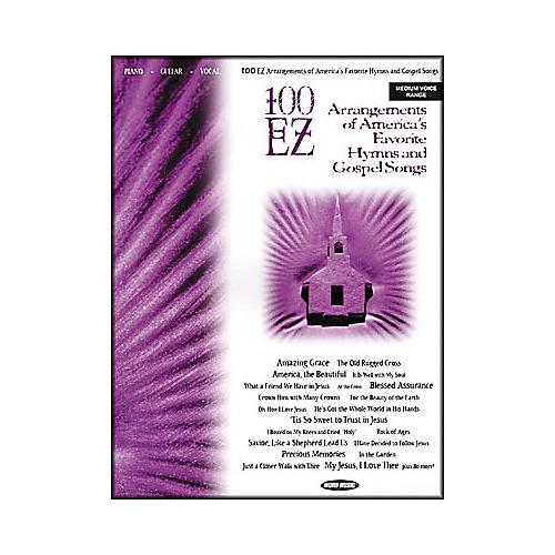 Word Music 100 EZ Arrangements of America's Favorite Hymns & Gospel Songs Piano, Vocal, Guitar Songbook-thumbnail