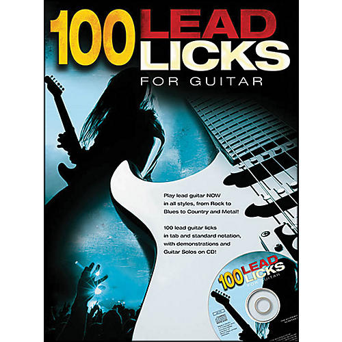 Music Sales 100 Lead Licks for Guitar (Book/CD)