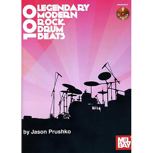 Mel Bay 100 Legendary Modern Rock Drumbeats Book/CD Set