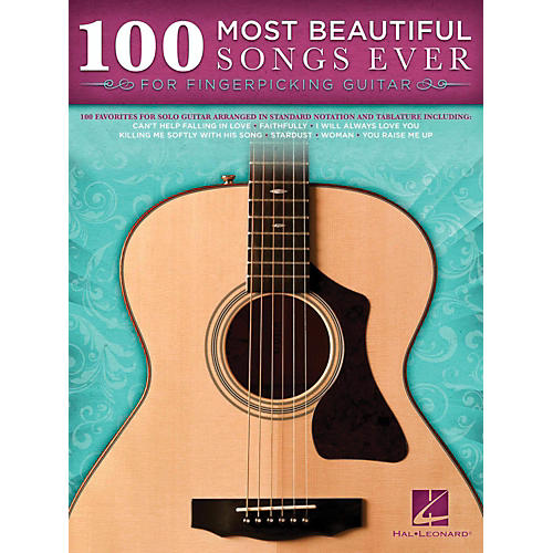 Hal Leonard 100 Most Beautiful Songs Ever For Fingerpicking Guitar