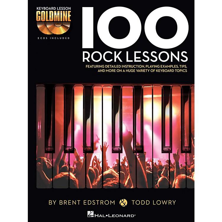 Hal Leonard100 Rock Lessons - Keyboard Lesson Goldmine Series Book/2-CD Pack