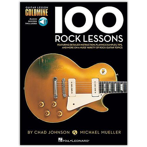 Hal Leonard 100 Rock Lessons  Guitar Lesson Goldmine Series (Book/Online Audio)-thumbnail