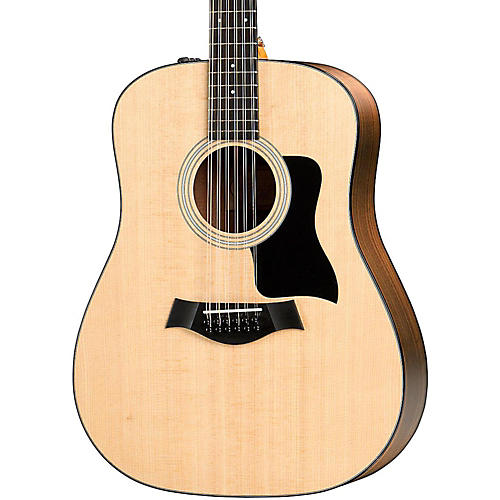 taylor 100 series 2017 150e dreadnought 12 string acoustic electric guitar natural musician 39 s. Black Bedroom Furniture Sets. Home Design Ideas