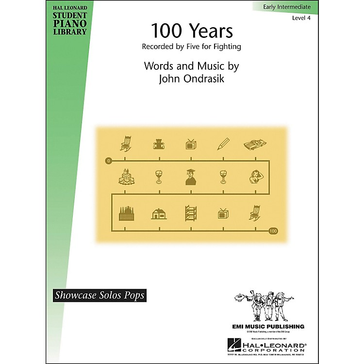 Hal Leonard100 Years By Five For Fighting Early Intermediate Level 4 Hal Leonard Student Piano Library by Martino