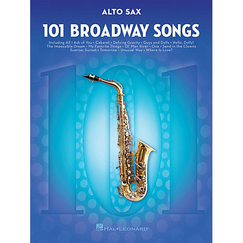 Hal Leonard 101 Broadway Songs for Alto Sax Instrumental Folio Series Book-thumbnail