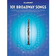 Hal Leonard 101 Broadway Songs for Clarinet Instrumental Folio Series Softcover
