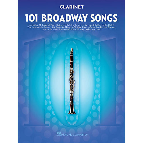 Hal Leonard 101 Broadway Songs for Clarinet Instrumental Folio Series Softcover-thumbnail