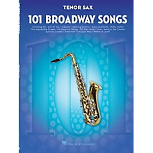 Hal Leonard 101 Broadway Songs for Tenor Sax Instrumental Folio Series Book
