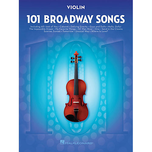 Hal Leonard 101 Broadway Songs for Violin Instrumental Folio Series Softcover-thumbnail