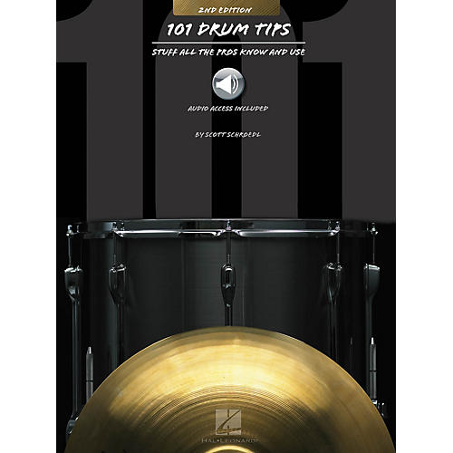 Hal Leonard 101 Drum Tips - 2nd Edition Percussion Series Softcover Audio Online Written by Various-thumbnail
