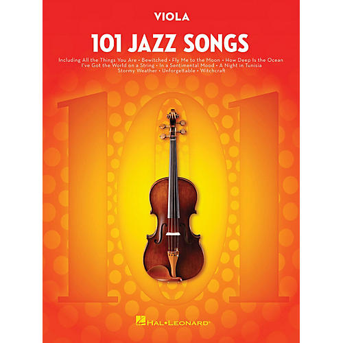 Hal Leonard 101 Jazz Songs for Viola Instrumental Folio Series Softcover-thumbnail
