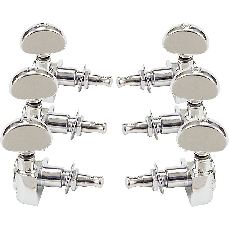 Grover-Trophy 102 Rotomatics 3-Per-Side Guitar Tuning Keys Chrome