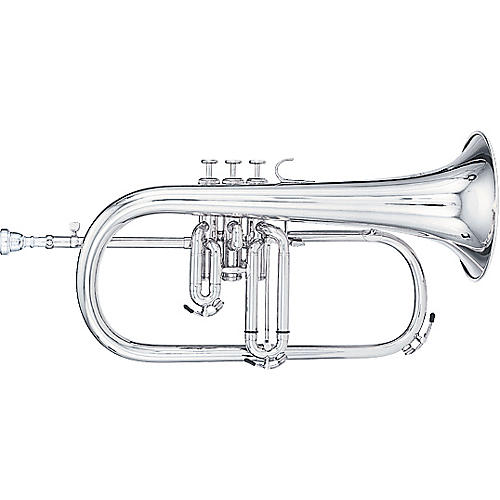 Kanstul 1025 Series Bb Flugelhorn 1025-2 Silver