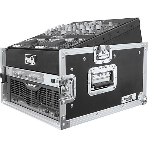 Road Runner 10U Slant Mixer Rack, 4U Vertical Rack System-thumbnail