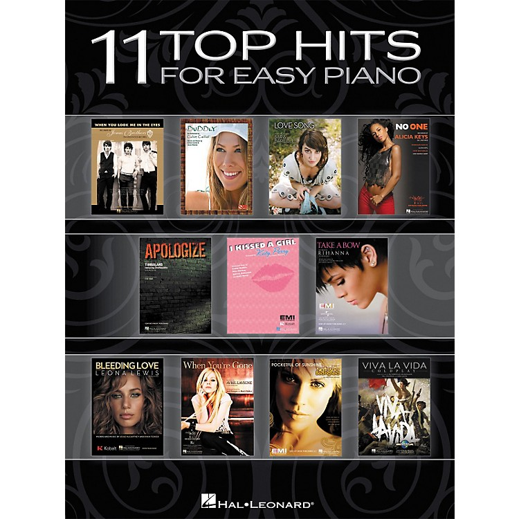 Hal Leonard 11 Top Hits For Easy Piano - 2008 Edition