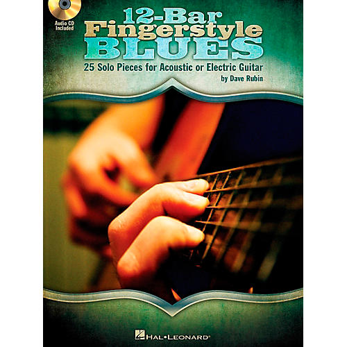 Hal Leonard 12-Bar Fingerstyle Blues - 25 Solo Pieces For Acoustic Or Electric Guitar Book/CD-thumbnail
