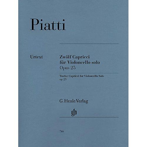 G. Henle Verlag 12 Capricci Op. 25 (Cello Solo) Henle Music Folios Series Softcover