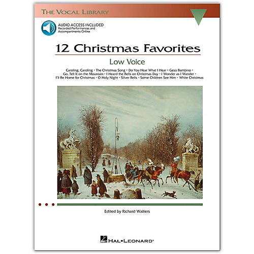Hal Leonard 12 Christmas Favorites for Low Voice Book/CD