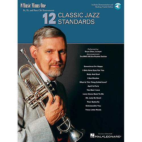 Music Minus One 12 Classic Jazz Standards Music Minus One Series Softcover with CD Performed by Bryan Shaw-thumbnail