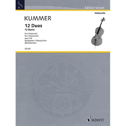 Schott 12 Duets, Op. 105 Schott Series Softcover Composed by Friedrich August Kummer Edited by Wolfgang Birtel-thumbnail