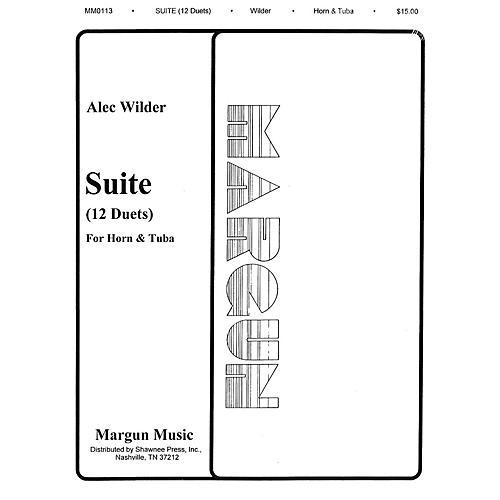 Margun Music 12 Duets for Horn and Tuba Shawnee Press Series-thumbnail