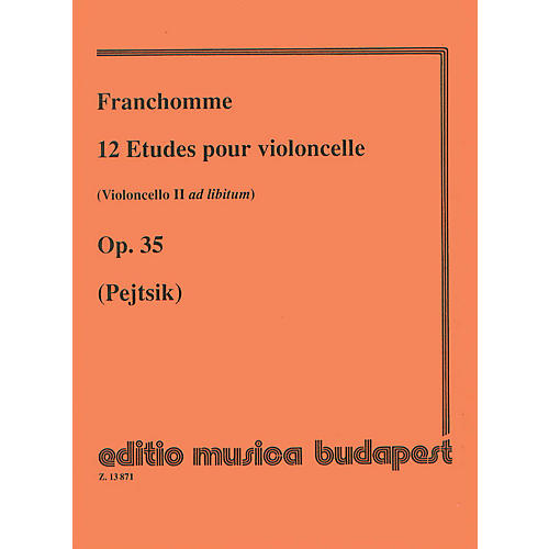 Editio Musica Budapest 12 Etudes, Op. 35 (Violoncello II ad lib.) (Violoncello Solo) EMB Series Composed by Auguste Franchomme-thumbnail