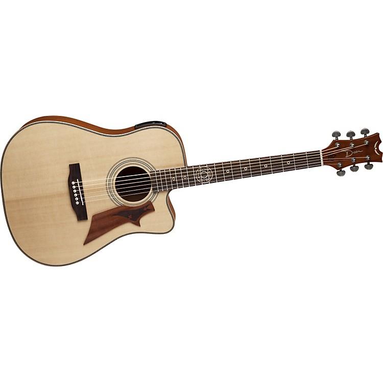 Dean12 Gauge Solid Top Cutaway Acoustic-Electric Guitar w/Aphex