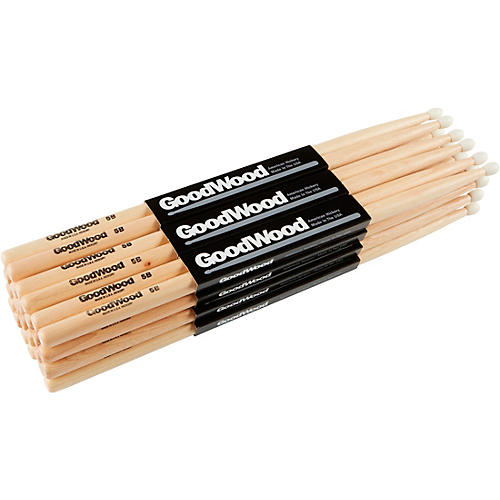 Goodwood 12-Pack Drumsticks 5B Nylon