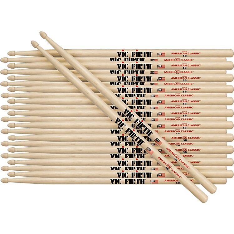 Vic Firth 12-Pair American Classic Hickory Drumsticks Nylon Classic Metal