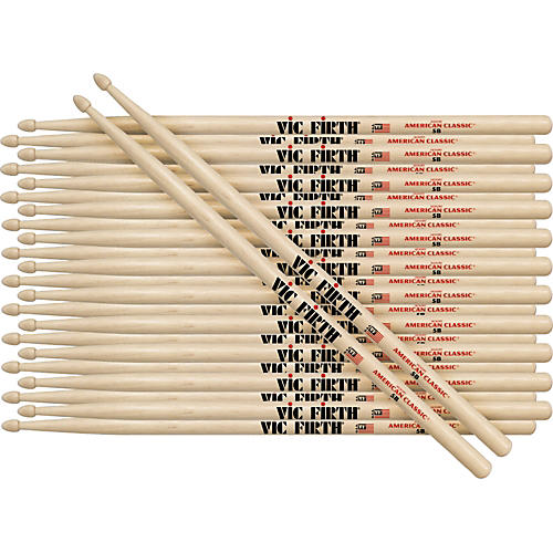 Vic Firth 12-Pair American Classic Hickory Drumsticks Wood 1A