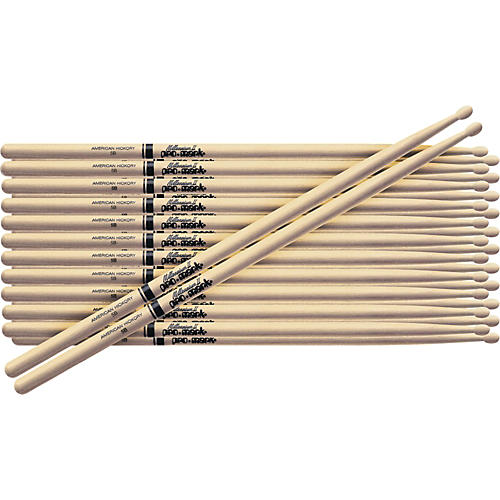 PROMARK 12-Pair American Hickory Drumsticks Wood 5B