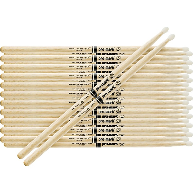 PROMARK 12-Pair Japanese White Oak Drumsticks Wood Jazz