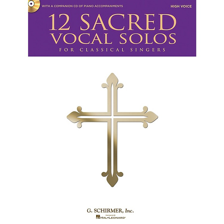 Hal Leonard 12 Sacred Vocal Solos - High Voice And Piano - With A CD Of Piano Accompaniments